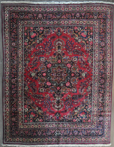 10.6x13.4 antique persian mashad #61580