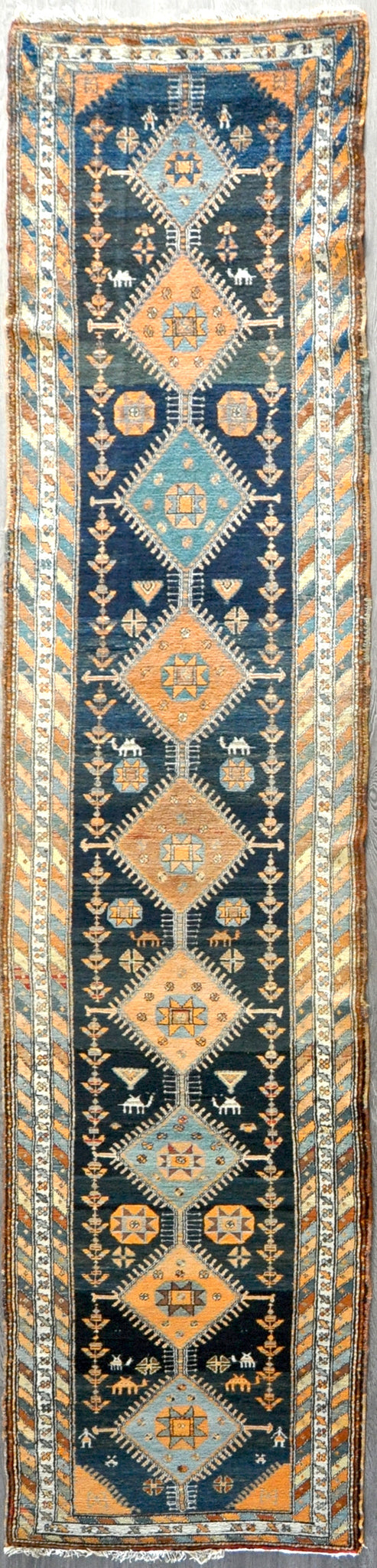 3.2x14.4 Antique Persian kurdish #81555