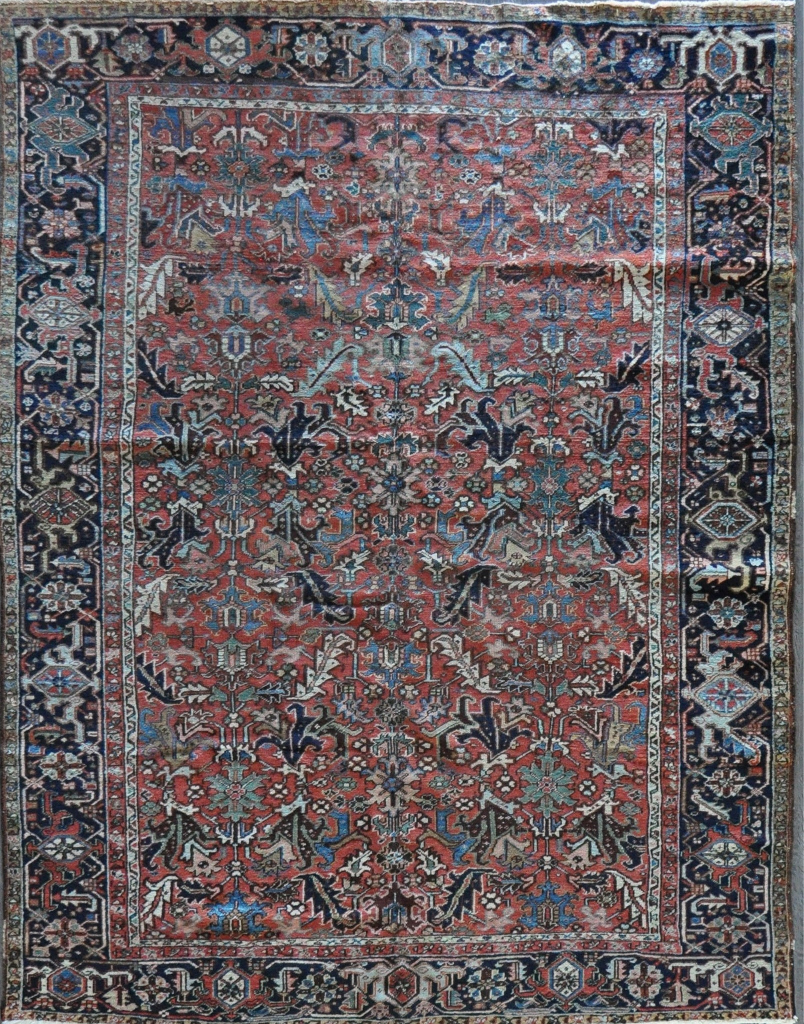8.11x11.7 antique Persian  heriz #48974
