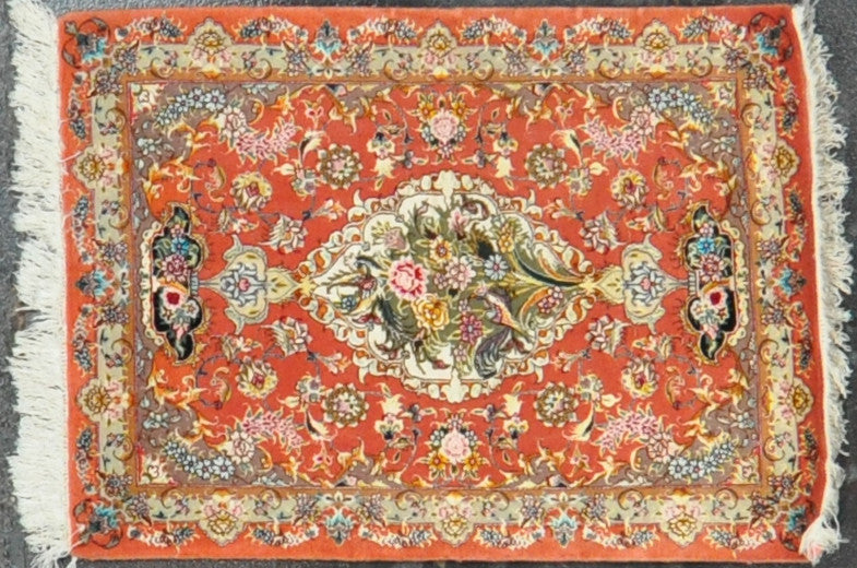persian tabriz 2.5x3.5 wool silk #18008