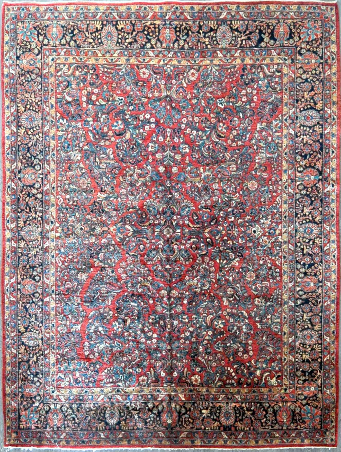 9x11.7 persian antique sarouk #49601
