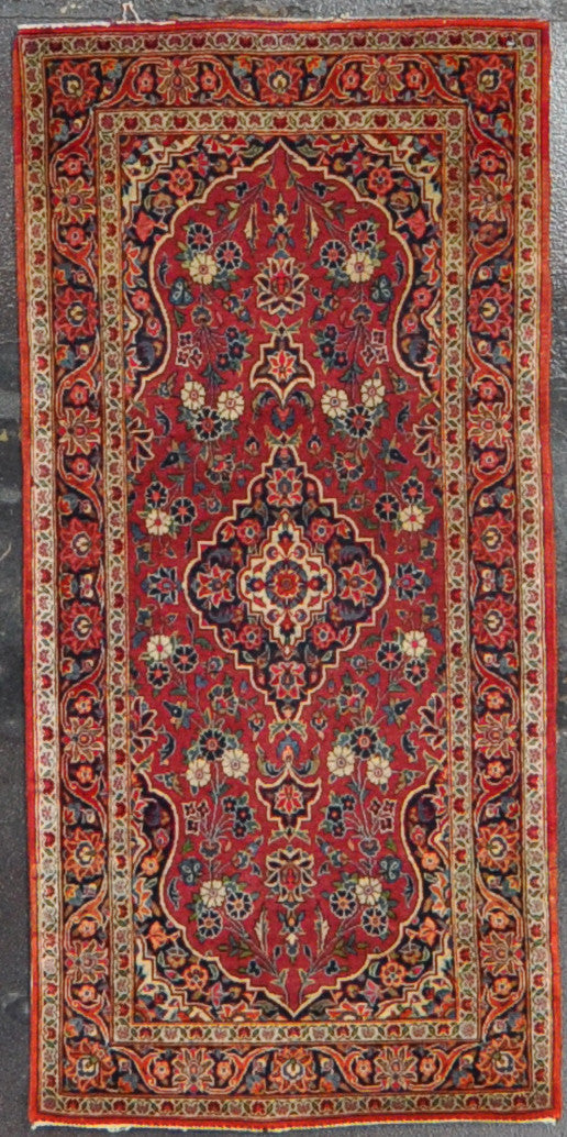 2.3x4.9 antique persian kashan wool #16177