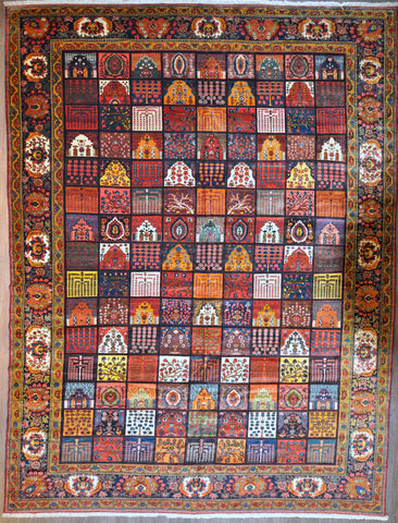 13.8x18.6 persian antique bakhtiari #96797