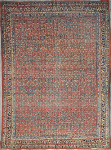 9.3x12.8 antique Persian bijar #92252