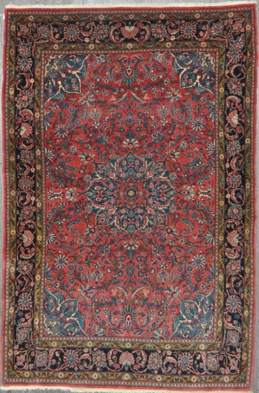 4.5x6.9 antique kashan #51399