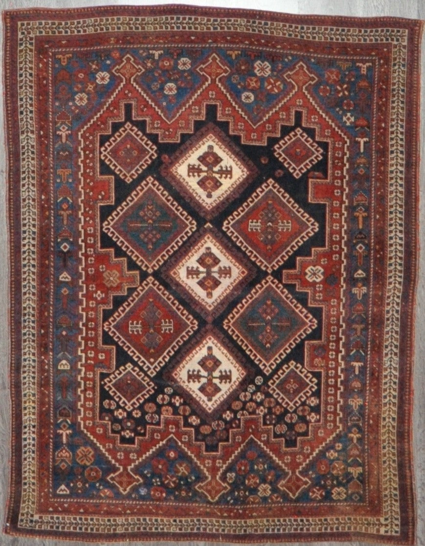 4.5x5.10 antique afshar #85019