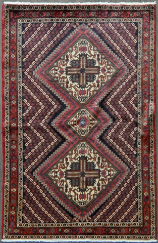 4.0x6.0 antique afshar #81431