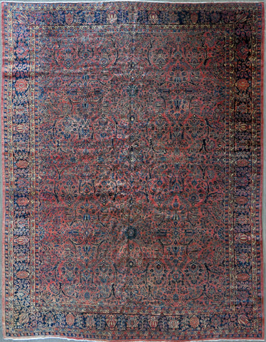 10x14 antique persian saoruk #80050