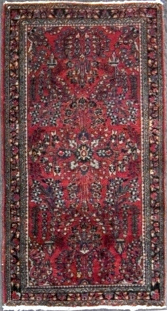 2.2x4.2 persian antique  sarouk #54853