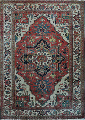 9.8x13.4 Persian heriz #90012 Sold