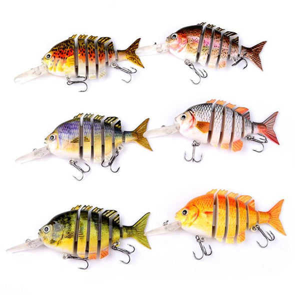 Fishing Chicago 10 cm 14g Leurre De Pêche Wobbler Aigus Ultimate Bass Buster 6 Segment Swim Bait