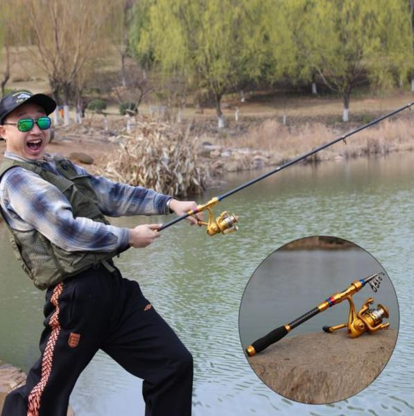 Fishing Chicago CARBON FIBER TELESCOPIC FINSHING RODS