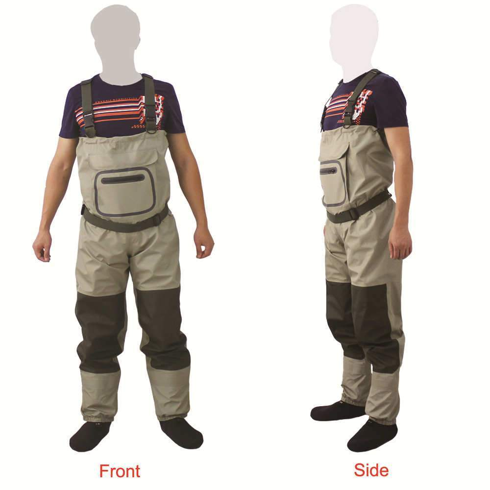 Fishing Chicago OUTDOOR WATERPROOF AND BREATHABLE CHEST WADERS