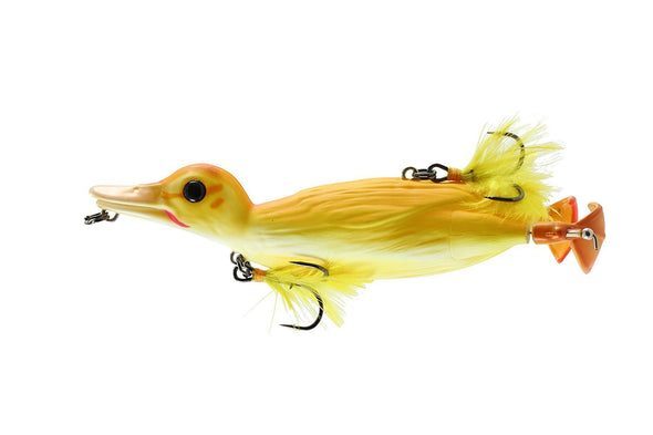 Fishing Chicago Yellow 3D Topwater Duck