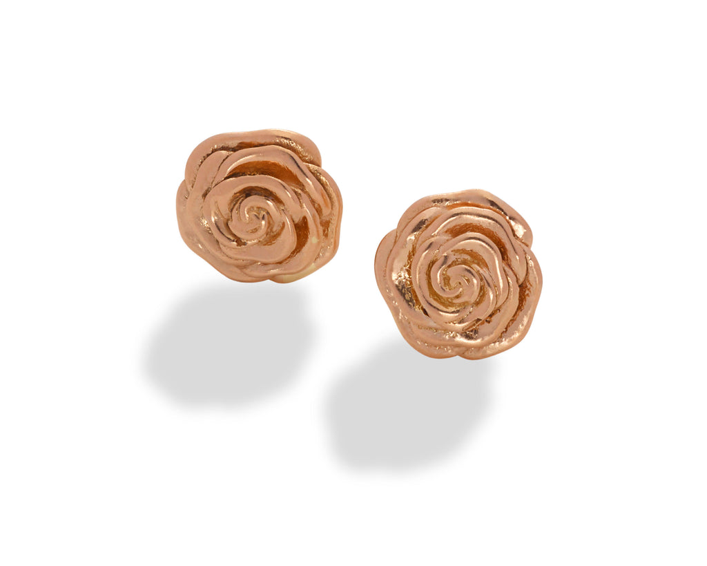 Rose Stud Earring 14K Rose Gold-large