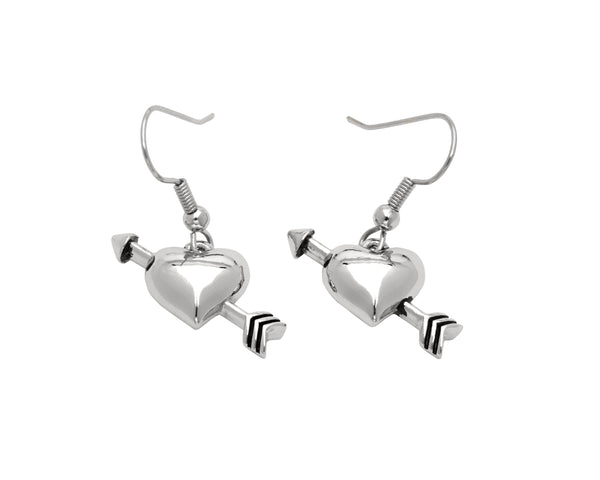 BE MINE Earrings - Heart with Arrow
