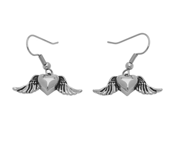 BE MY TRUE LOVE Earrings - Winged Heart