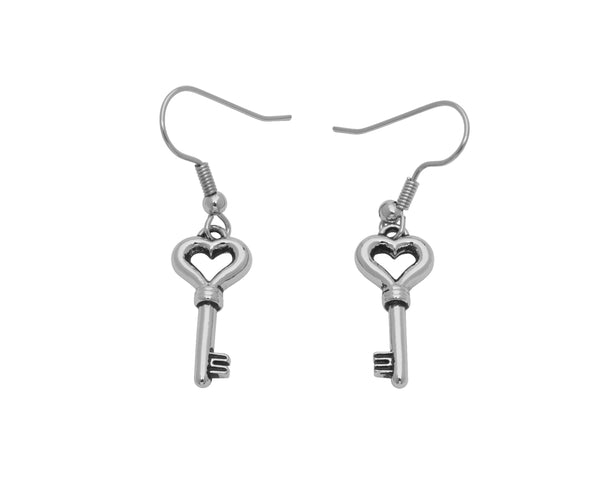 BE MY VALENTINE Earrings - Heart Key