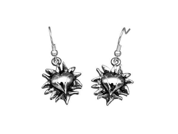 BE PASSIONATE Earrings - Flaming Heart