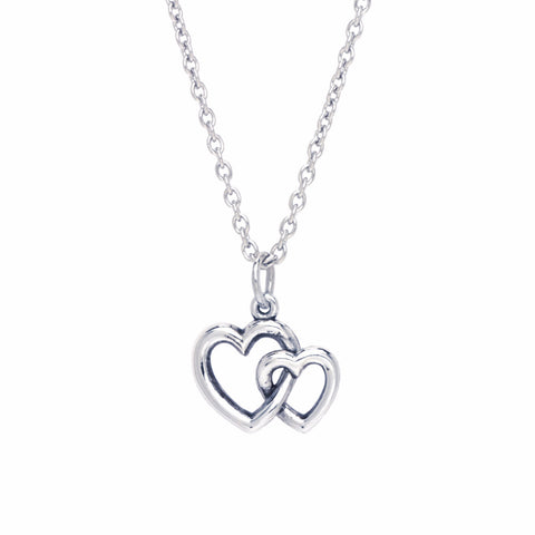 BE Values Collection - BE Grateful - Double Hearts pendant
