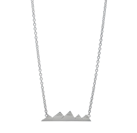 Elements Earth Sterling Silver Bar Necklace