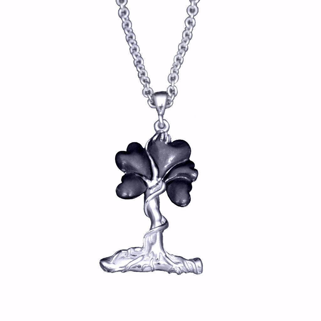 Sterling Collection - Roots of Life sterling silver necklace - Gun Metal finish