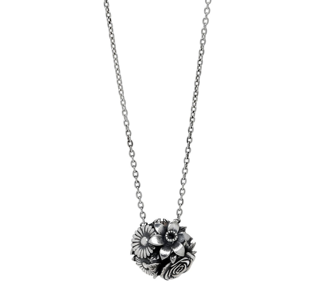 Sara flower bouquet sterling silver pendant my sisterwifes closet v mozeypictures Gallery