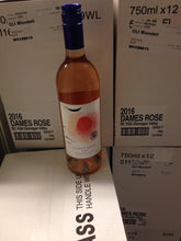 Dames Rosé Wine cases with one bottle on display