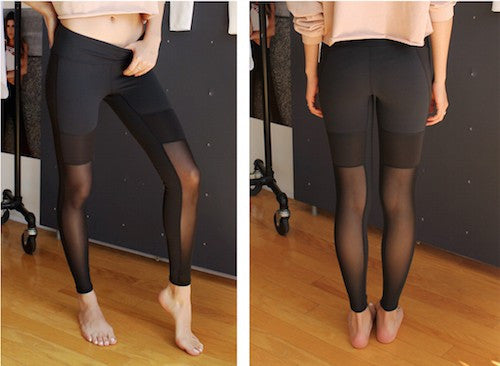Active mesh combo leggings