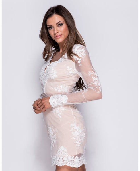 Grace Lace Long Sleeve Bodycon Dress