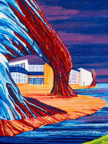 Canada Series #10 (New Brunswick), Print on wood