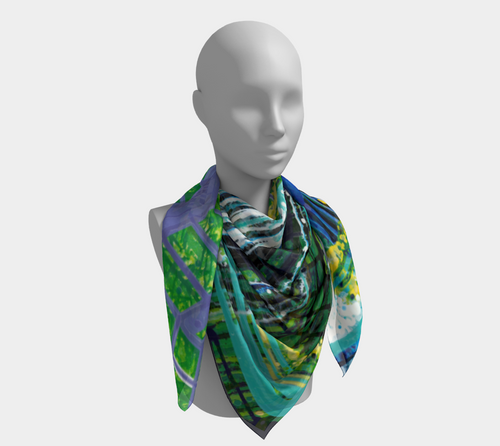 Square Scarf: Greenhouse Effect #2 (Colorado + New York)