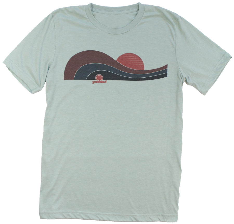 Outside Unisex Tee Dusty Blue - goodseedclothing.com