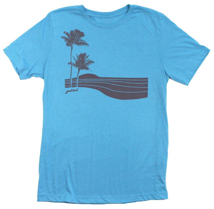 New Palm Unisex Tee Aqua - goodseedclothing.com