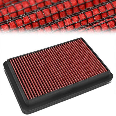 FOR 12-18 MAZDA 3//6//CX-5 2.0L//2.3L//2.5L WASHABLE DROP-IN AIR FILTER PANEL RED