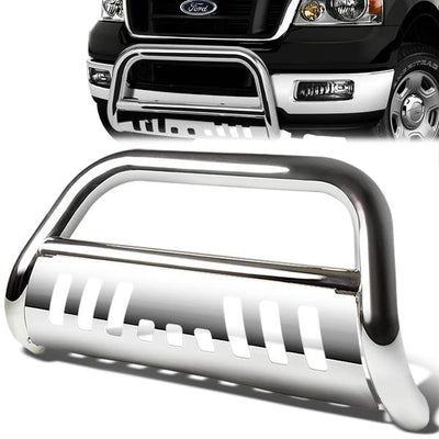 FUYU Stainless Front Bull Bar w//Skid Plate For 2005-2007 Ford F250 F350 F450 Superduty//Excursion