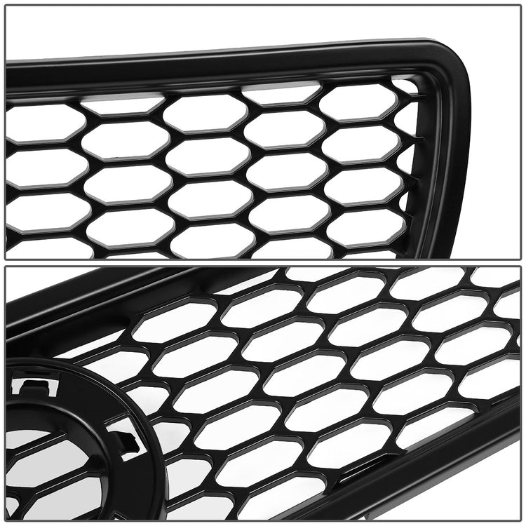 for Audi A4//A4//S4 Quattro DNA Motoring GRF-072-BK Honeycomb Front Bumper Grille