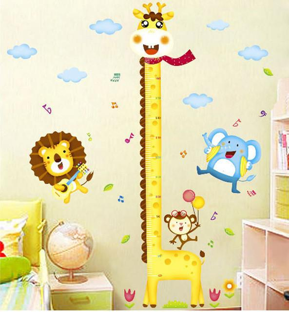 Giraffe Growth Chart Wall Sticker-Watermelon Warehouse