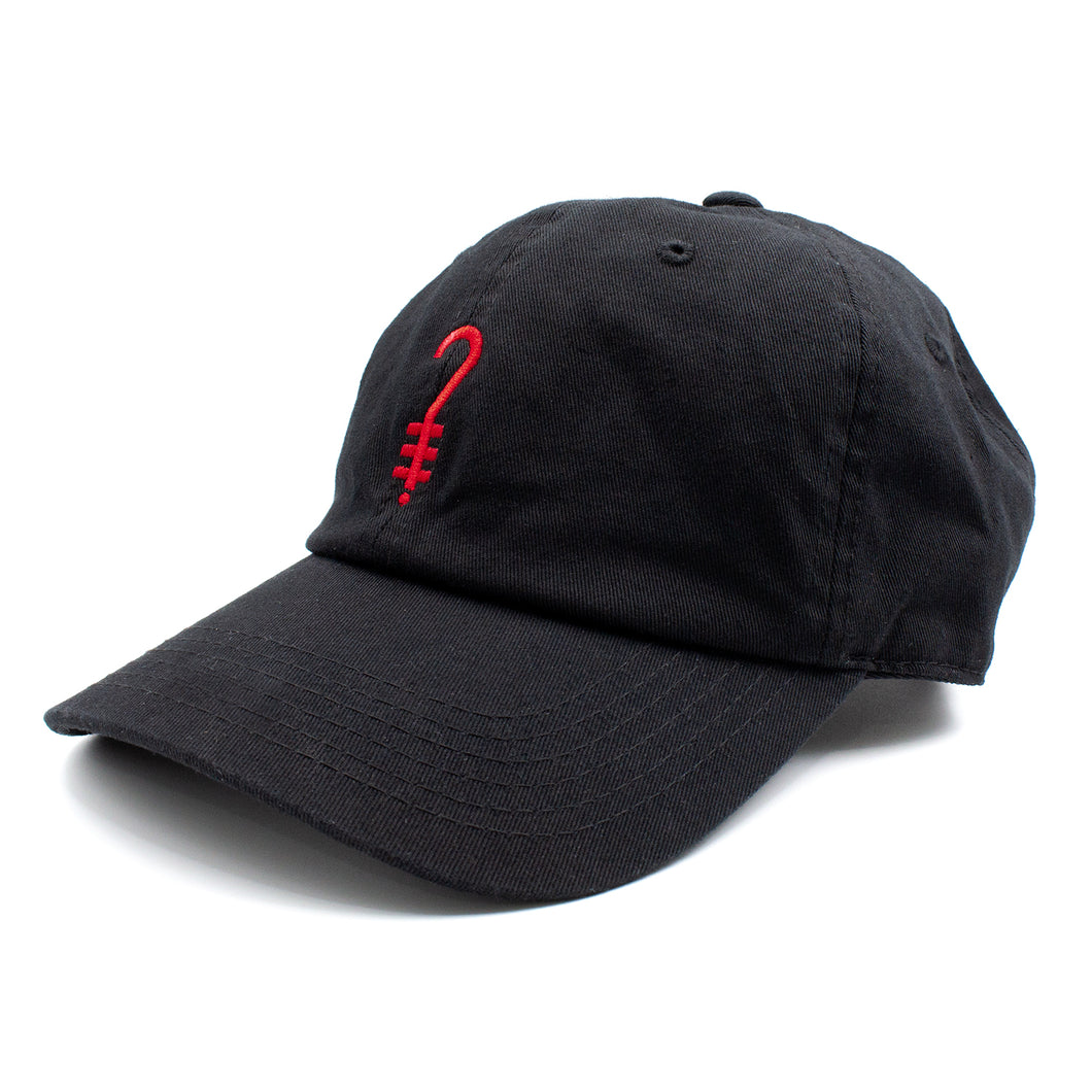 256243cc3a K D Dad Hat - Black Red – whoskid