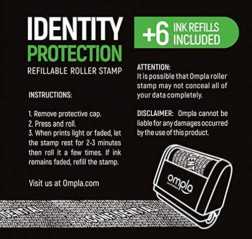 Ompla ID Protection Roller Stamp + 6 Ink Refills