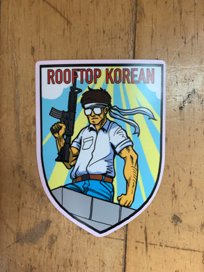 V1 Rooftop Korean Sticker