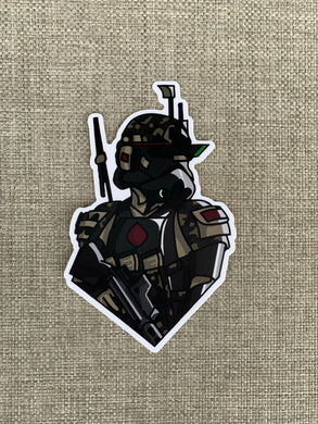 Multicam Black Trooper Sticker
