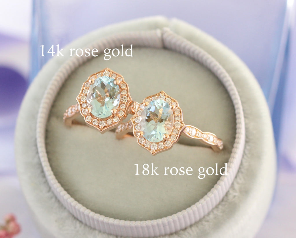 14k rose gold vs 18k rose gold ring by la more design