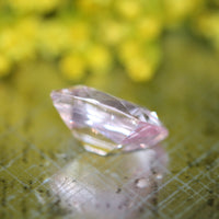 Cushion Cut Natural Pink Sapphire Certified Loose Sapphire, 2.86 ct