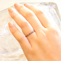 Black diamond wedding ring in rose gold scalloped band by la more design