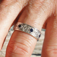celtic wedding bands princess cut sapphire wedding rings la more design jewelry