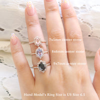 Halo Ring Diamond Size Comparison Rose Gold Tiara Halo Cluster Ring by La More Design Jewelry