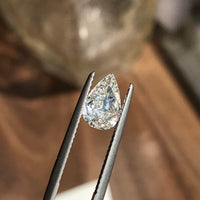 Custom Made Halo Diamond Engagement Ring in 14k White Gold, Size 8