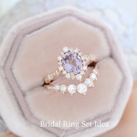 Lavender purple sapphire engagement ring rose gold tiara halo diamond ring la more design jewelry