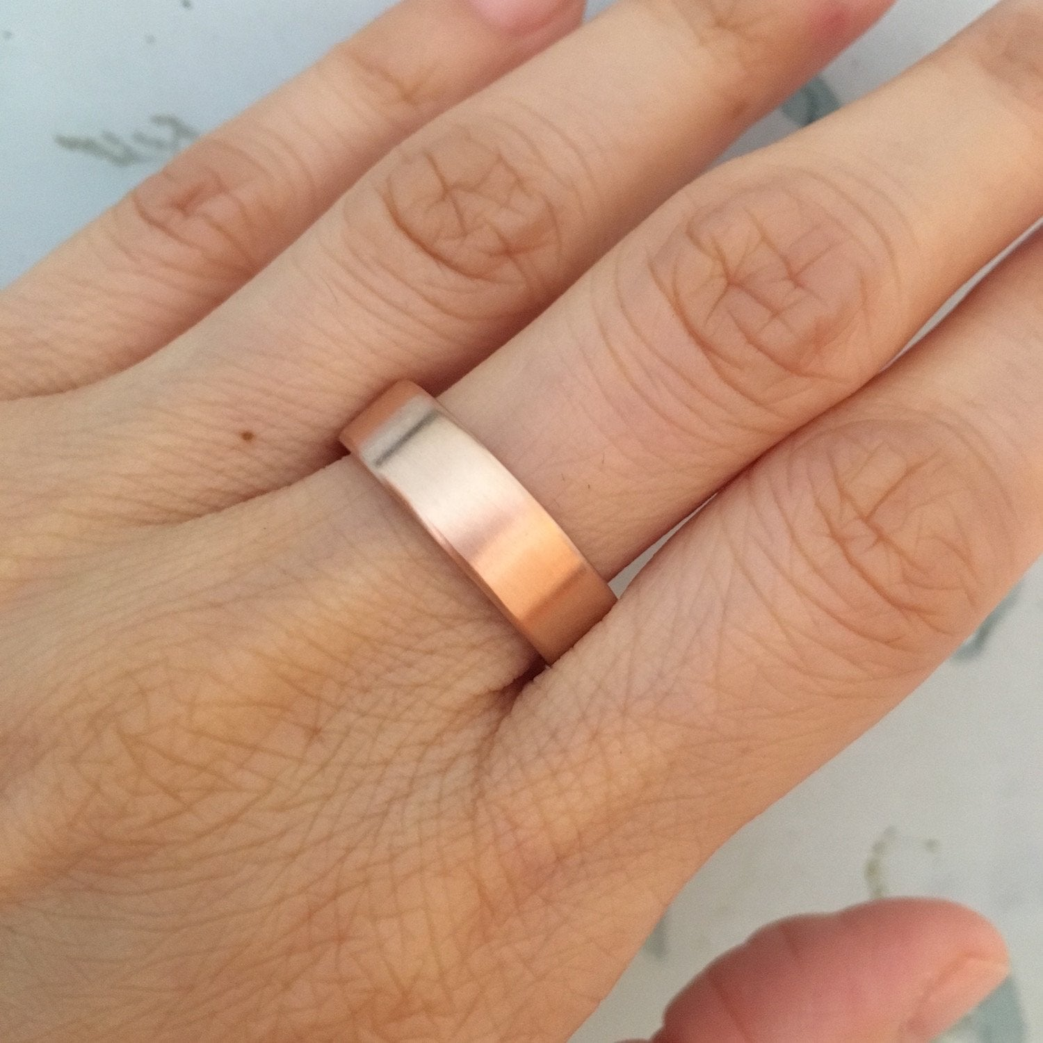 wedding rose gold matte bands tweet products mens in share by design pinterest comfort twitter his it solid la pin on band flat fit ring more facebook